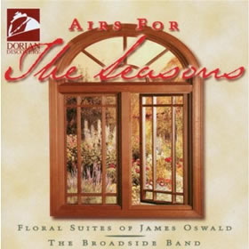 Image of Airs for the Seasons by James Oswald CD cover