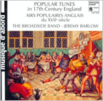 Image of Popular Tunes in 17th Century England CD cover