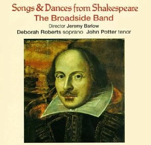 Image of Songs and Dances from Shakespeare CD cover